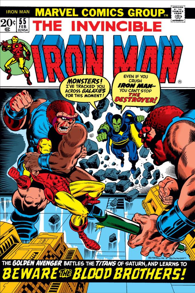 Primeira aparição de Thanos na HQ #55 Iron Man