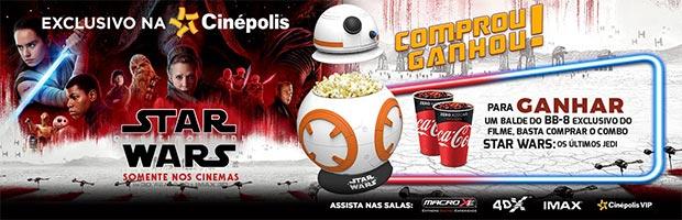 Combo Star Wars: Os Últimos Jedi Cinépolis