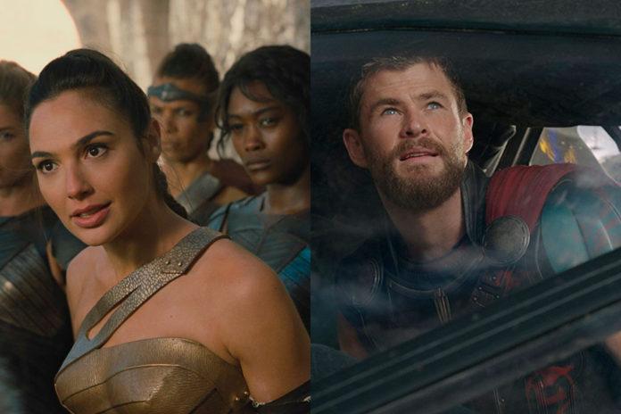 Mulher-Maravilha e Thor: Ragnarok Bilheteria Mundial