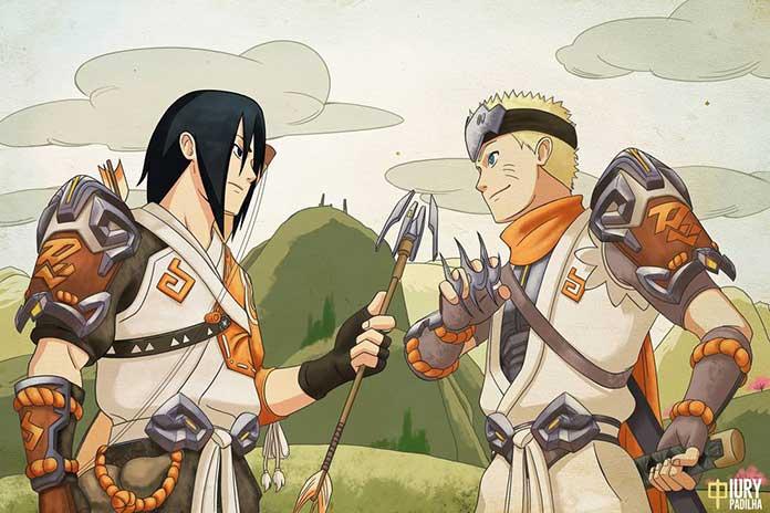 Naruto e Sasuke amigo e rival 01