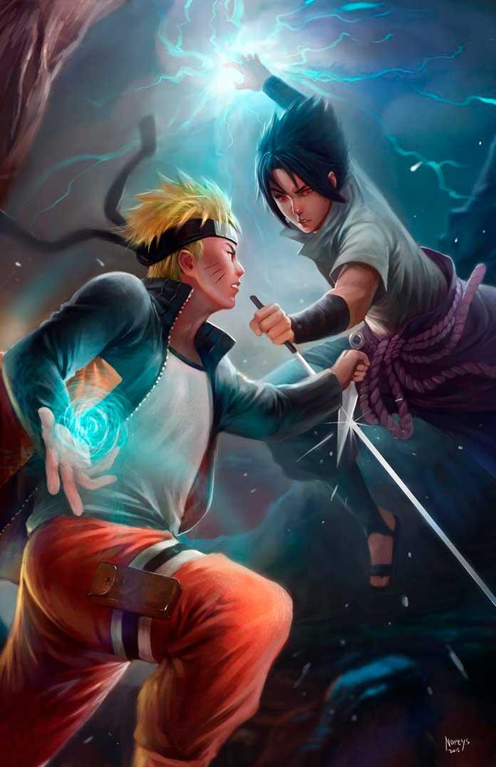 Naruto Chidori vs Rasengan