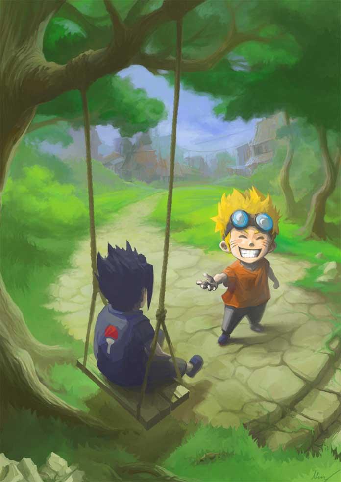 Naruto infância