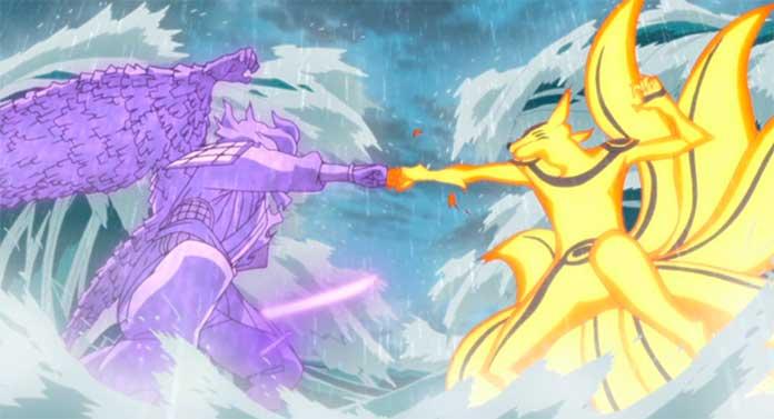 Naruto Shippuden Susanoo vs Kurama