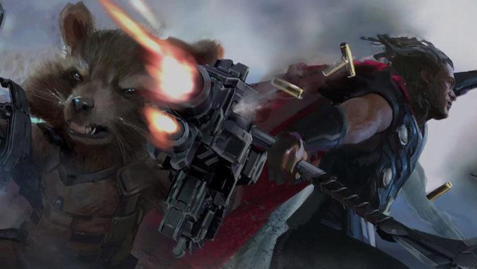 Rocket Raccoon e Thor Vingadores: Guerra Infinita