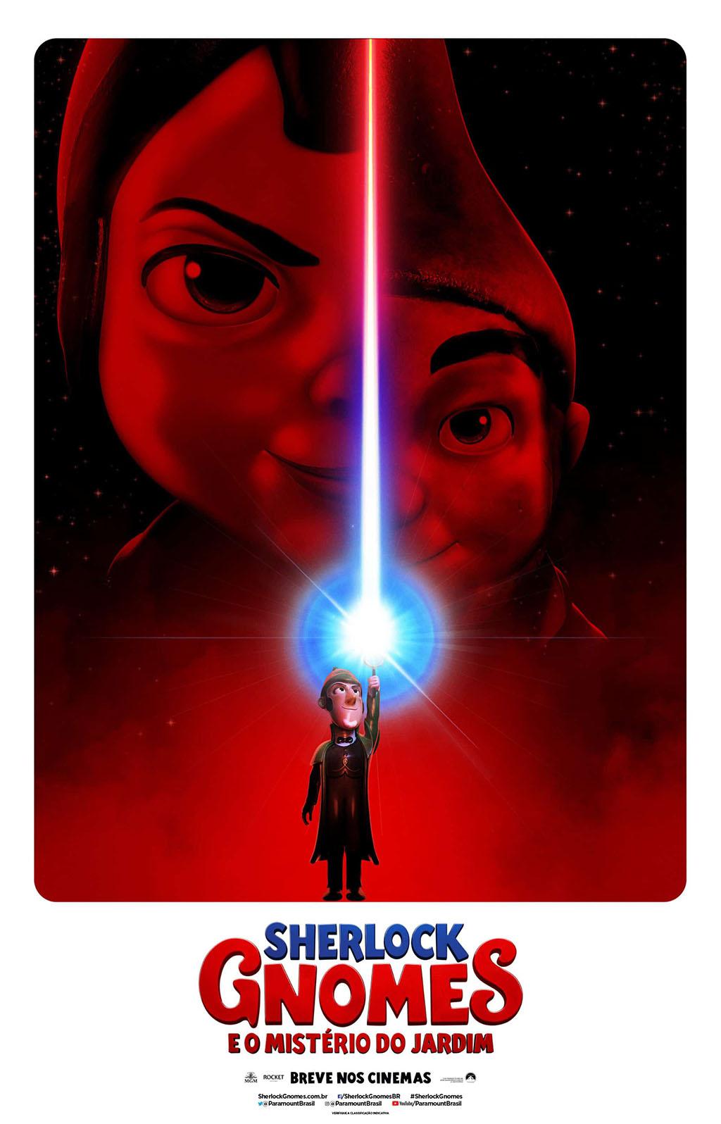 Sherlock Gnomes e o Mistério do Jardim Poster Star Wars