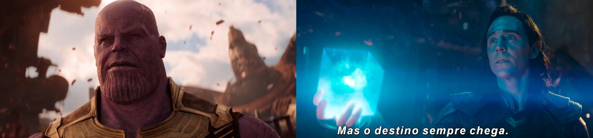 Vingadores: Guerra Infinita Thanos e Loki