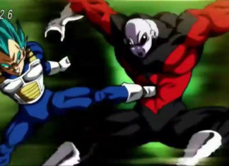 Vegeta super saiyajin blue vs Jiren DBS