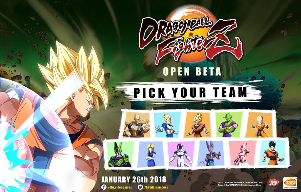 Beta de Dragon Ball FighterZ terá 11 personagens jogáveis