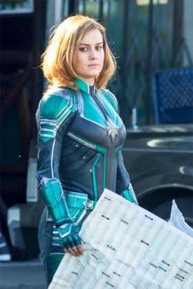 Capitã Marvel Brie Larson bastidores 01