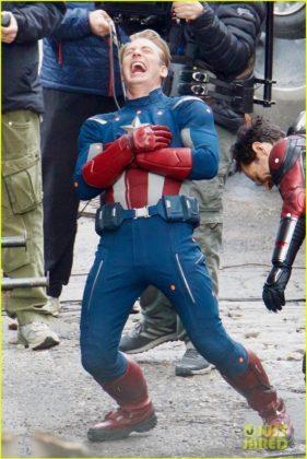 Capitão América bastidores Vingadores 4 03
