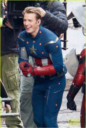 Capitão América bastidores Vingadores 4 07