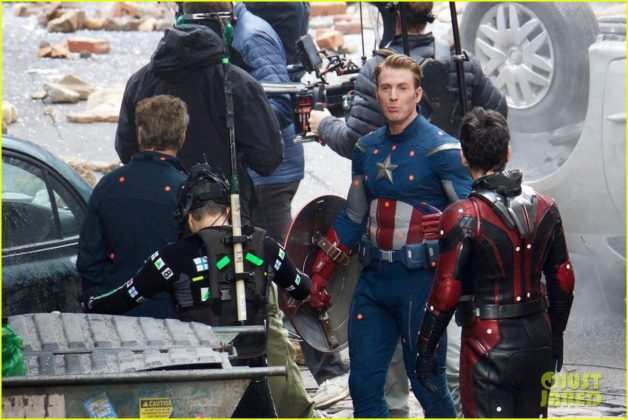 Capitão América bastidores Vingadores 4 15