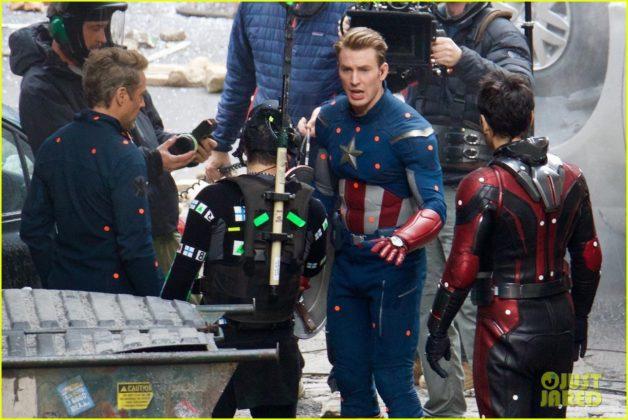 Capitão América bastidores Vingadores 4 16