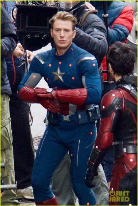 Capitão América bastidores Vingadores 4 18