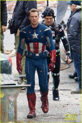 Capitão América bastidores Vingadores 4 20