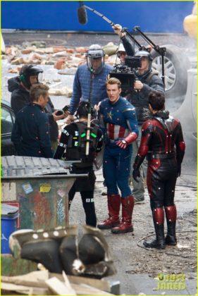 Capitão América bastidores Vingadores 4 21