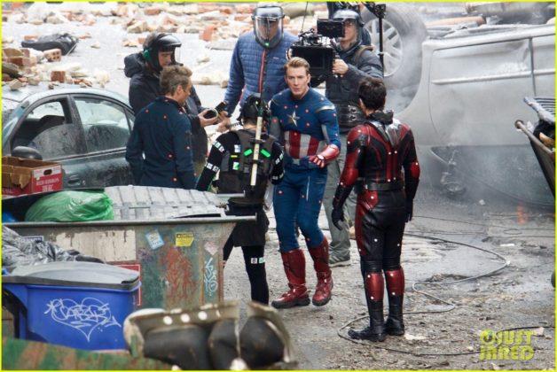 Capitão América bastidores Vingadores 4 22