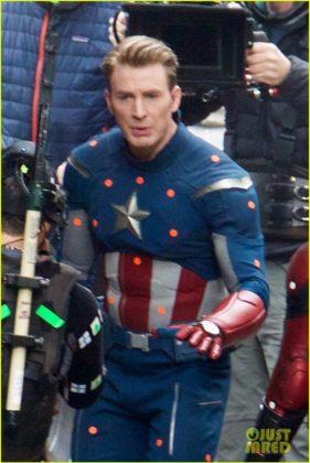 Capitão América bastidores Vingadores 4 26