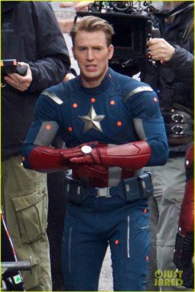 Capitão América bastidores Vingadores 4 40