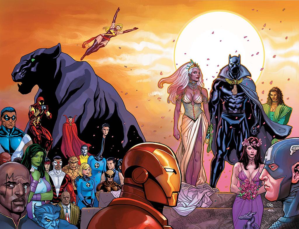 Casamento do Pantera Negra com a X-Men Tempestade
