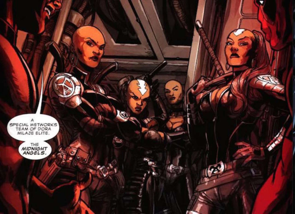 Dora Milaje Midnight Angels