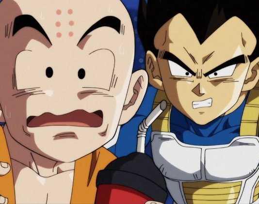 Kuririn e Vegeta Dragon Ball Super