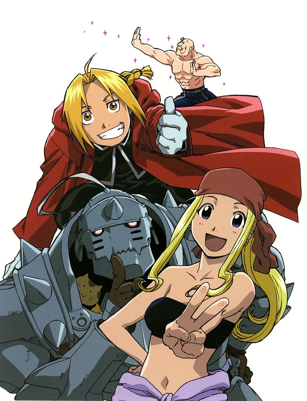 Edward, Alphonse e Winry Fullmetal Alchemist