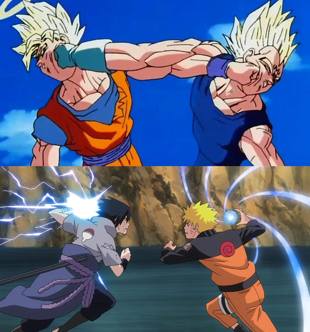 Goku vs Vegeta, Sasuke vs Naruto