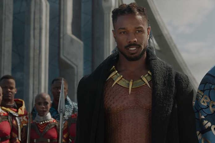 Michael B. Jordan (Erik Killmonger) Pantera Negra guerra