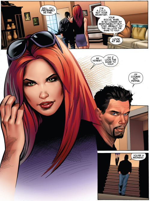 Pepper Potts e Tony Stark Marvel Comics