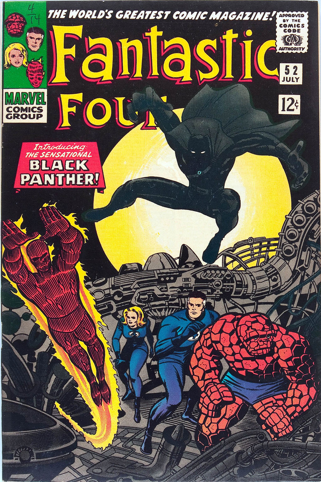 Pantera Negra The Fantastic Four #52 1966