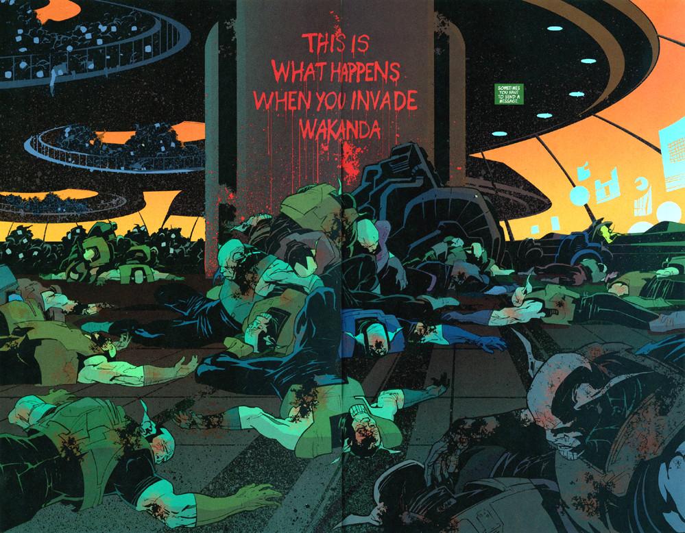Skrulls mortos em Wakanda