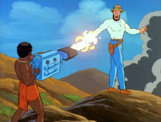 T'Challa atira na mão de Ulysses Klaw