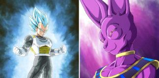 Vegeta e Beerus ilustração Dragon Ball Super