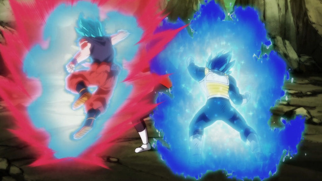 Vegeta e Goku vs Jiren Dragon Ball Super episódio 124