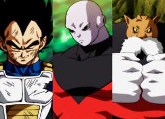 Vegeta, Jiren e Toppo Torneio do Poder Dragon Ball Super