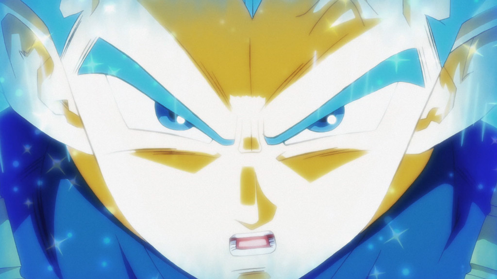 Vegeta Super Saiyajin Bue full power Dragon Ball Super episódio 123