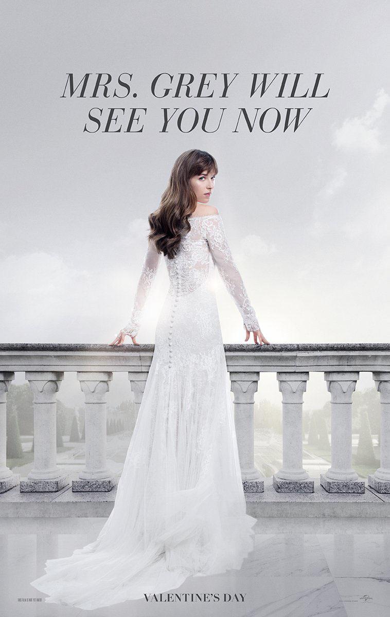 Vestido de noiva de Anastasia Steele Cinquenta Tons de Liberdade