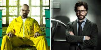 Walter White Breaking Bad e El Professor La Casa de Papel