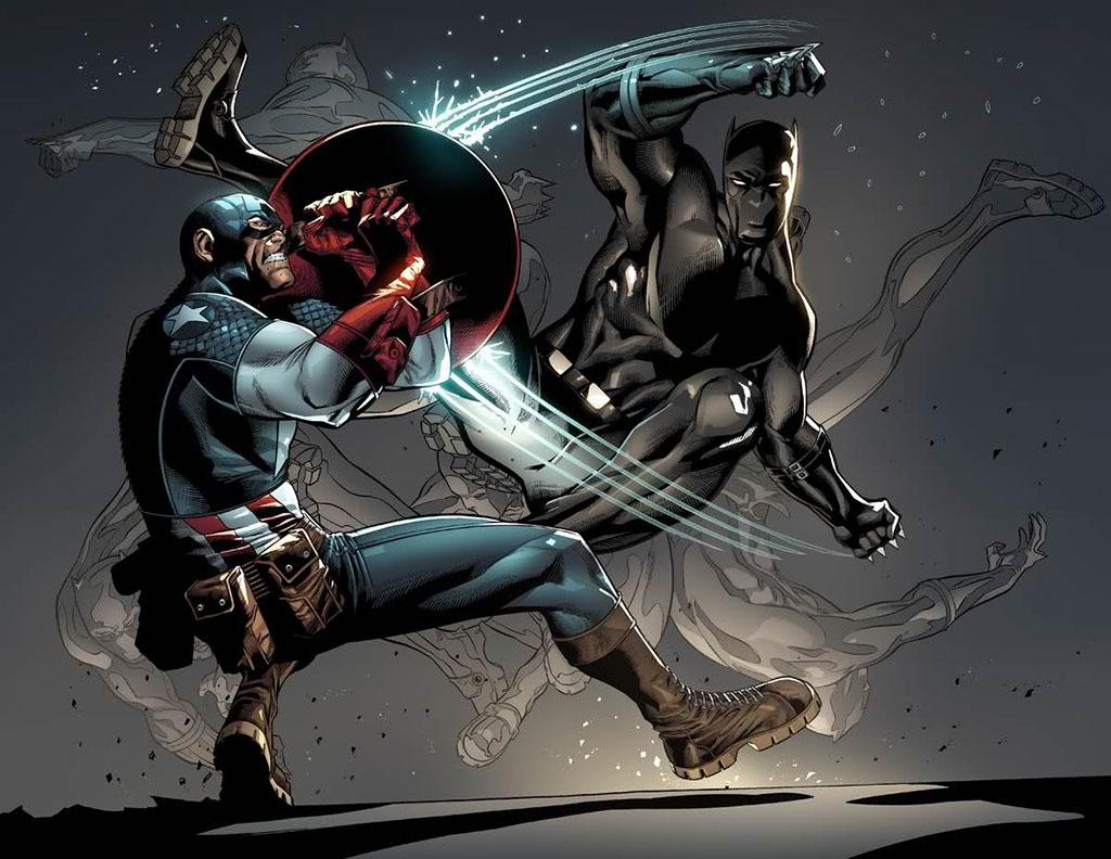 Capitão América x Pantera Negra