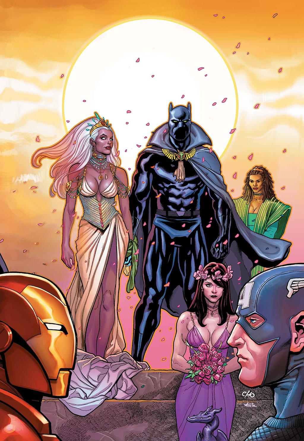 Casamento de T'Challa e Ororo Pantera Negra