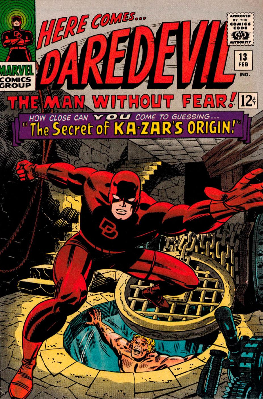 Primeira aparição do Vibranium Daredevil #13