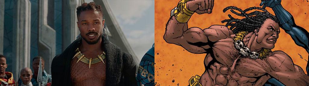 Diferença Erik Killmonger filme e quadrinhos
