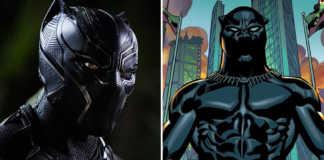 Diferenças Pantera Negra no filme e nos quadrinhos