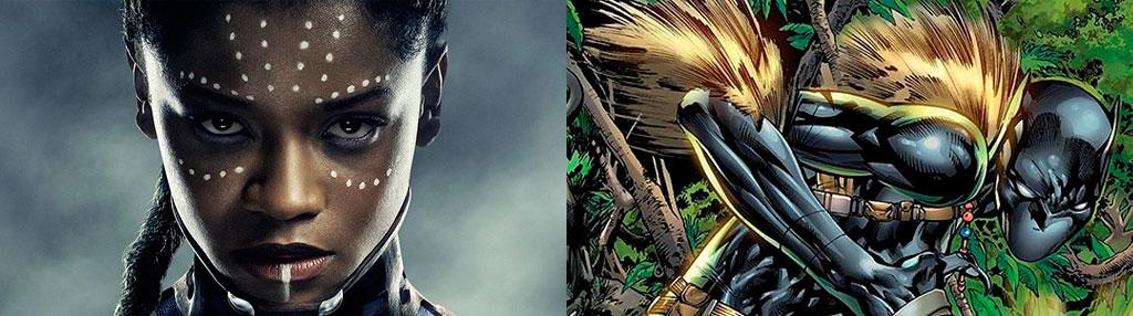 Diferença Shuri filme e quadrinhos