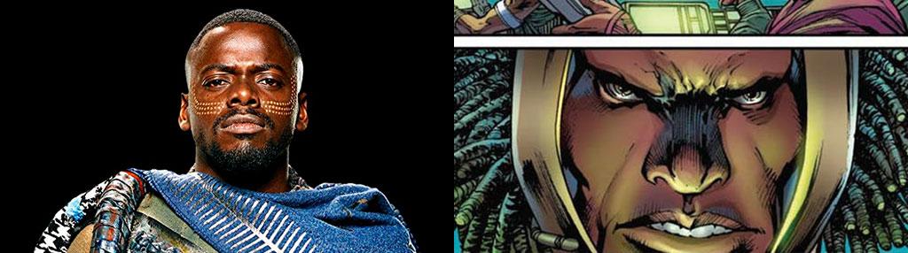 Diferença W'Kabi filme e quadrinhos