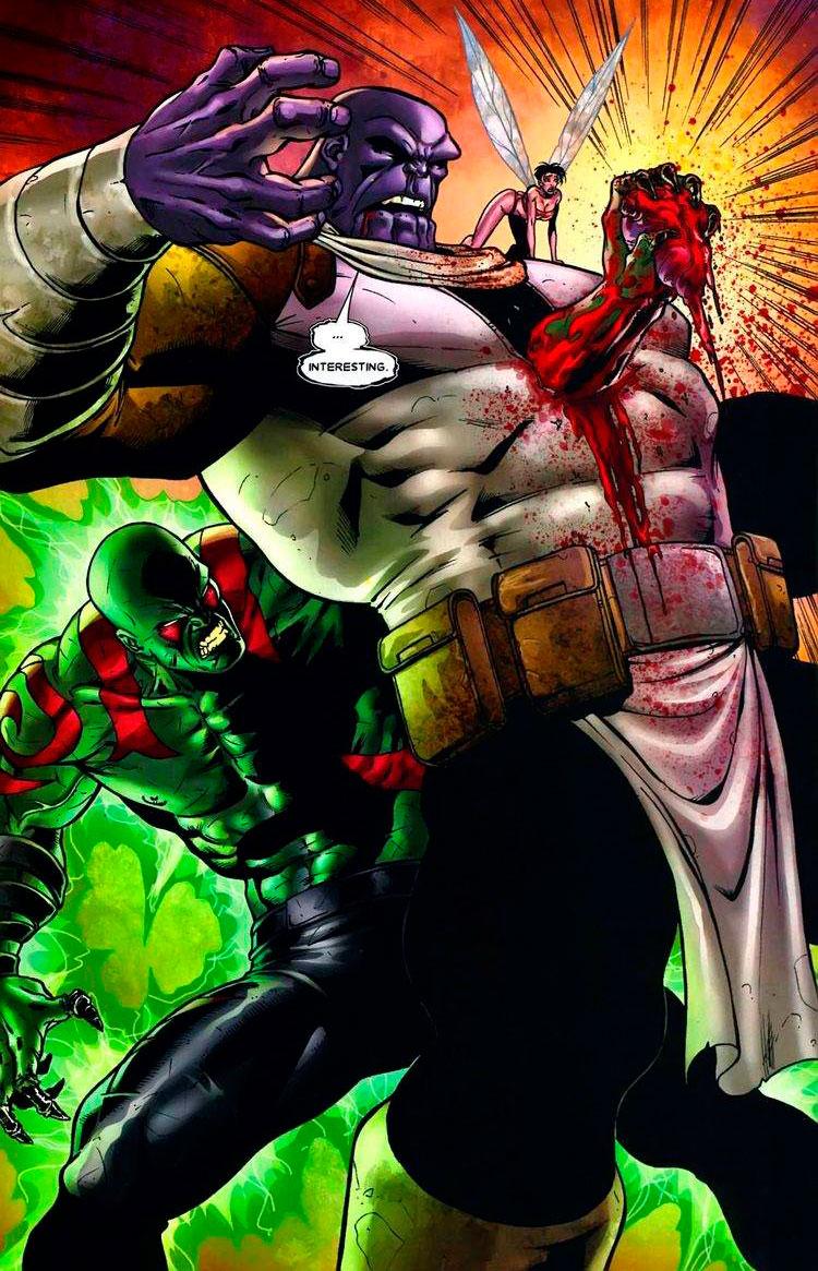 Drax, O Destruidor vs Thanos