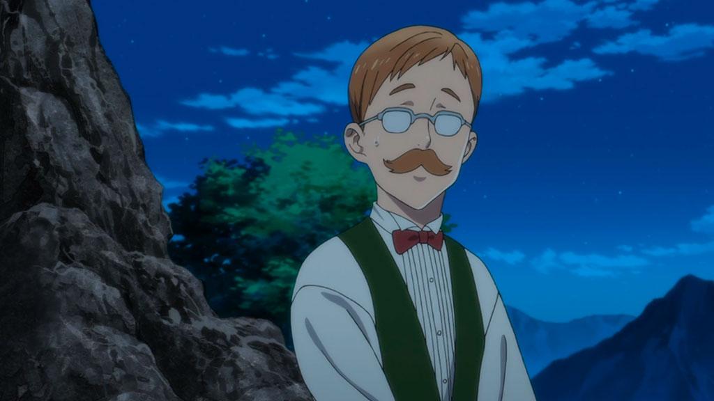 Primeira aparição de Escanor no anime Nanatsu No Taizai: Seisen No Shirushi