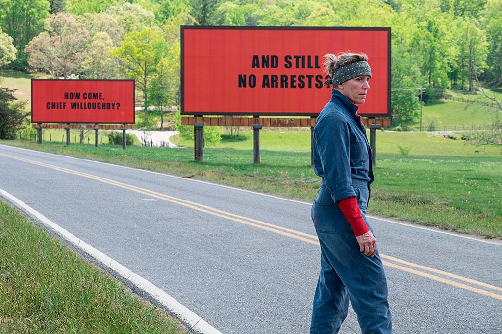 Frances McDormand Três Anúncios Para um Crime outdoors