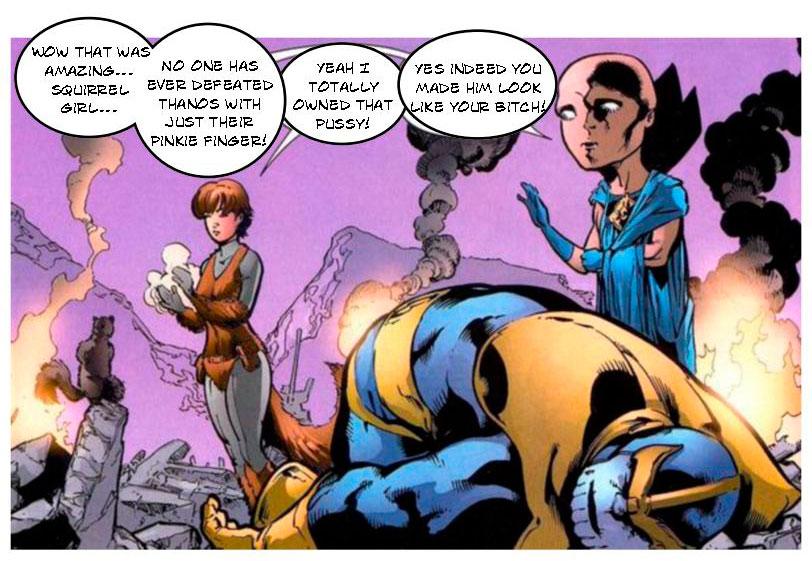Garota Esquilo vs Thanos